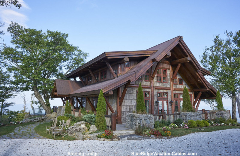 Cabin exterior at Blue Ridge Vacation Cabins.