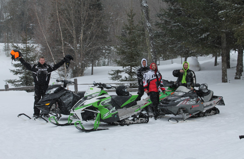 Snowmobiling at Wilderness Bay Lodge and Resort