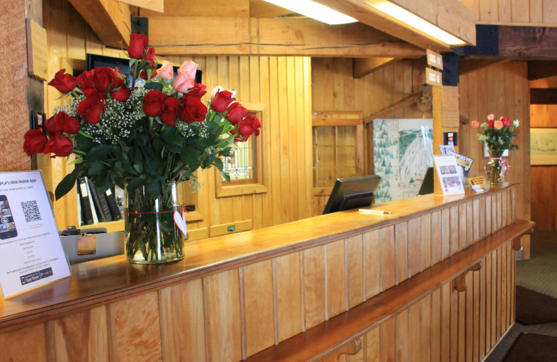 Front desk at Big Powderhorn Lodging.