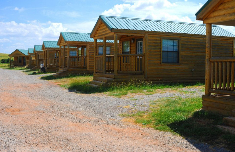 Cabins at Flying W Guest Ranch.