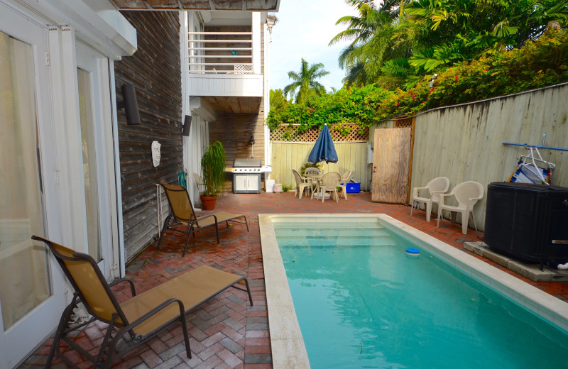 Rental pool at Key West Vacation Rentals.