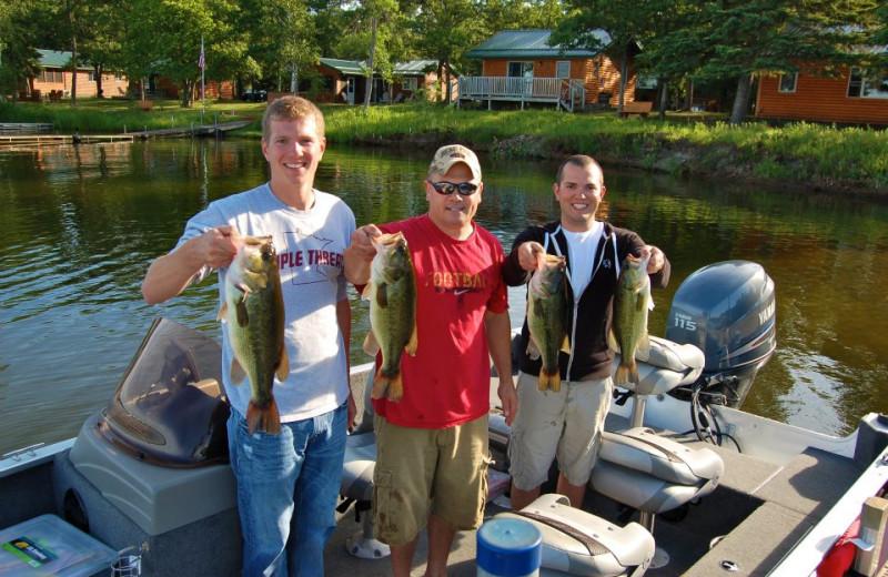 Fishing at Bear Paw Resort.