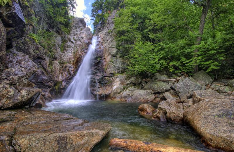 Waterfall at North Conway Lodging.