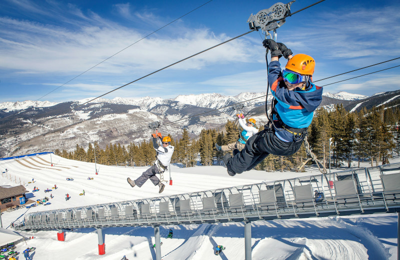 Zip line at Vail Mountain Lodge & Spa.