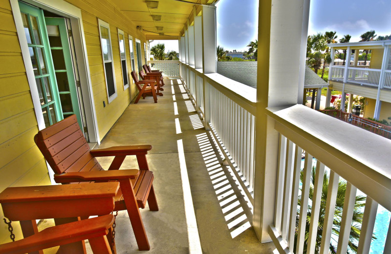 Balcony view at Plantation Suites & Conference Center.