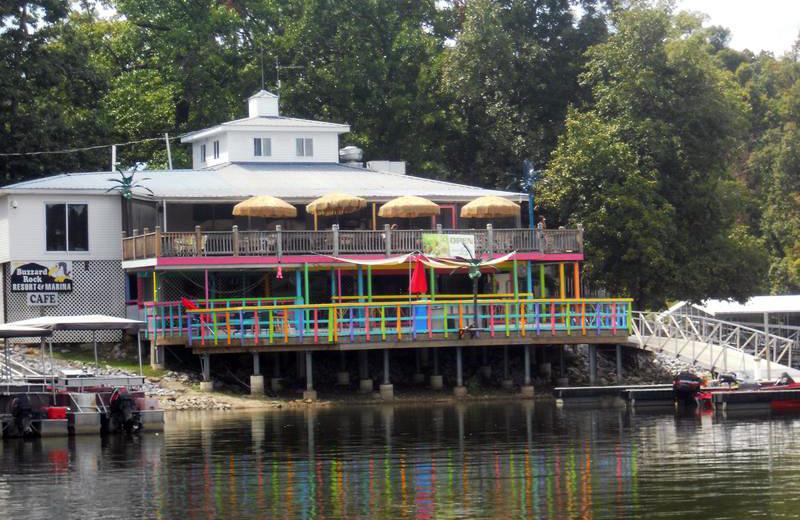 Cafe at Buzzard Rock Resort and Marina.