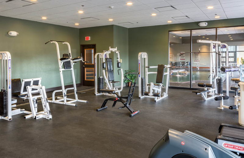 Fitness room at Prescott Resort & Conference Center.