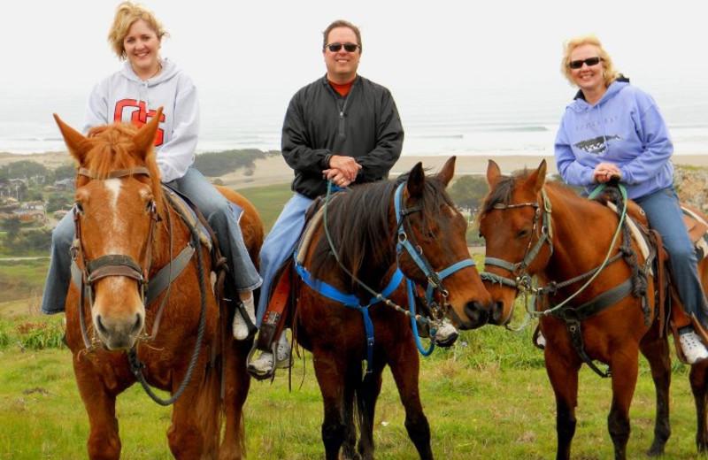 Horseback riding at Chanslor Guest Ranch.