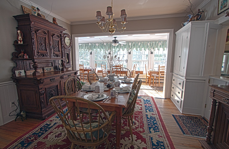 Dining at Phineas Swann Bed and Breakfast.