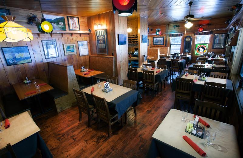 Dining room at Izaak Walton Inn.