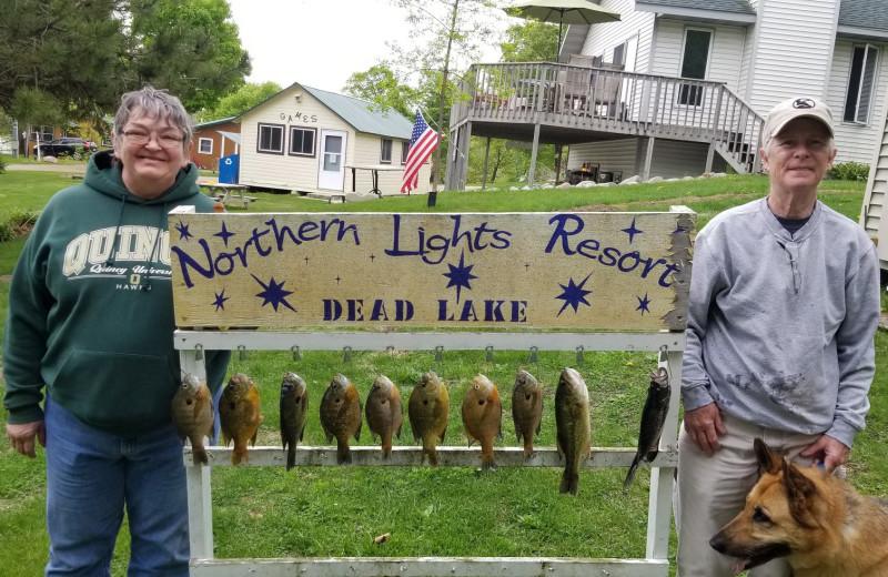 Fishing at Northern Lights Resort.