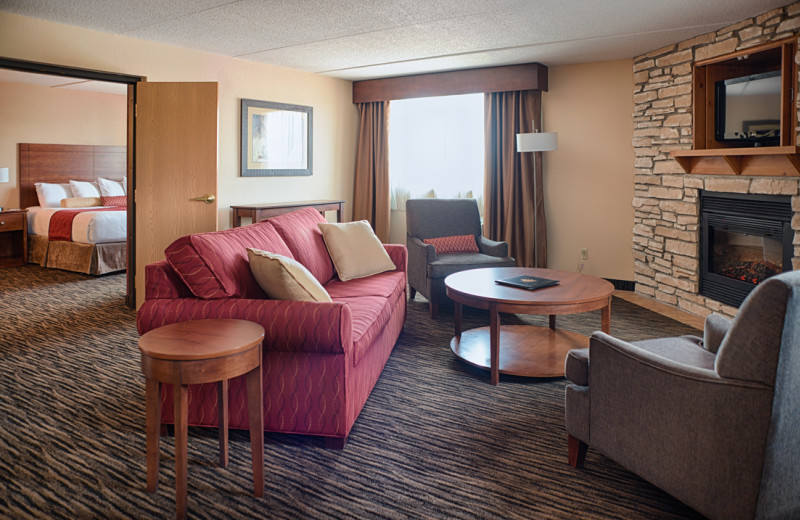 Guest room at Jackpot Junction Casino Hotel.