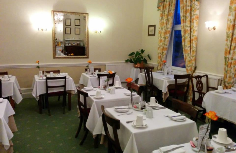 Dining at Oldfields Hotel.