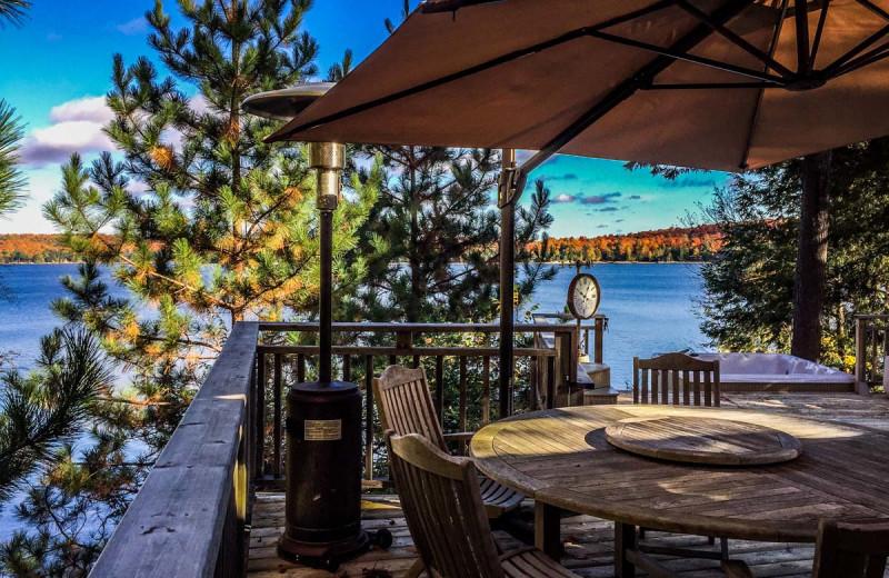 Rental deck at All-Season Cottage Rentals.