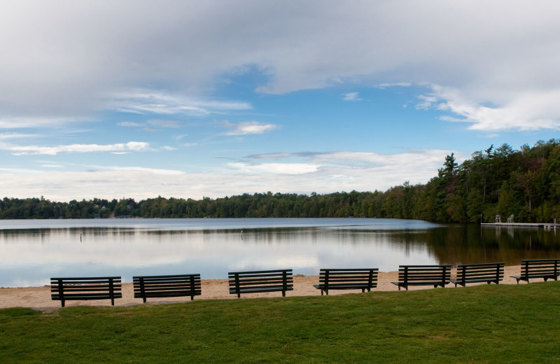 Lake view at Eagles Mere Inn.