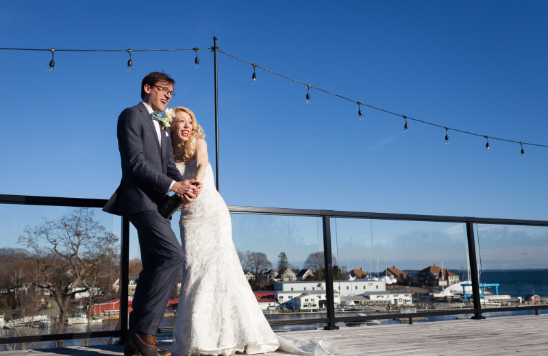 Wedding couple at 16 Bay View.