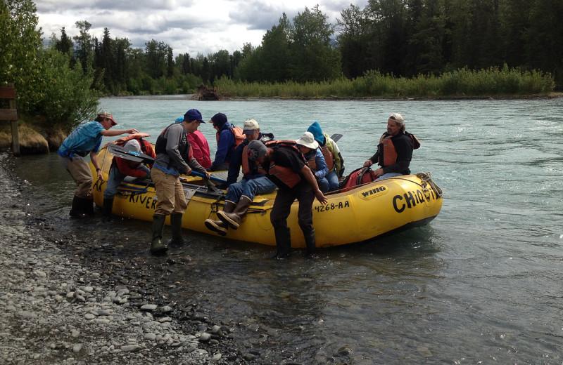 Rafting at Diamond M Ranch.