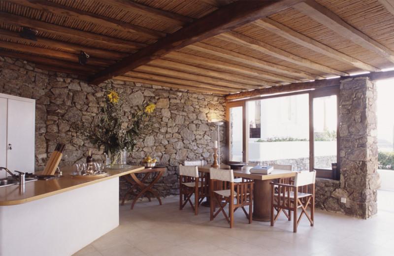 Rental kitchen at Villa Galaxy.