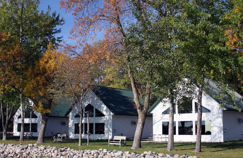 Cabin exterior at Brophy Lake Resort.