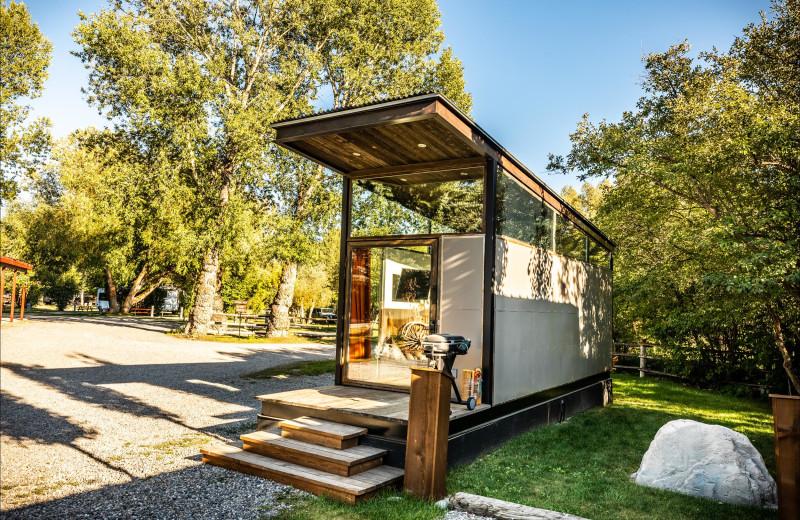 Cabin exterior at Fireside Resort at Jackson Hole.
