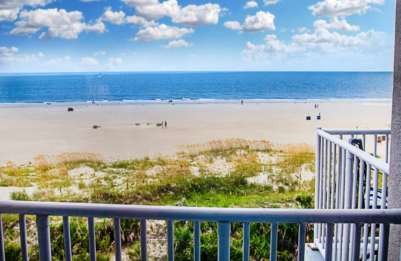 Balcony view at Beachside Colony.
