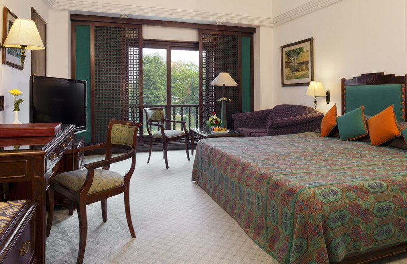 Guest room at Soaltee Crowne Plaza Kathmandu.
