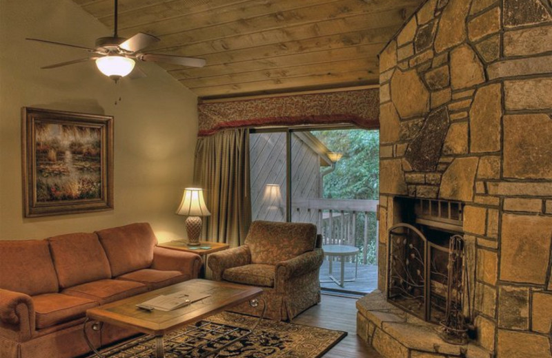 Guest living room at Mountainside Lodge.