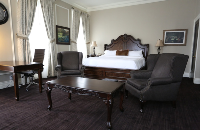 Guest room at Clarendon Hotel.