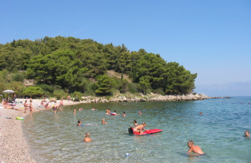 The beach at Adriatic Villas.