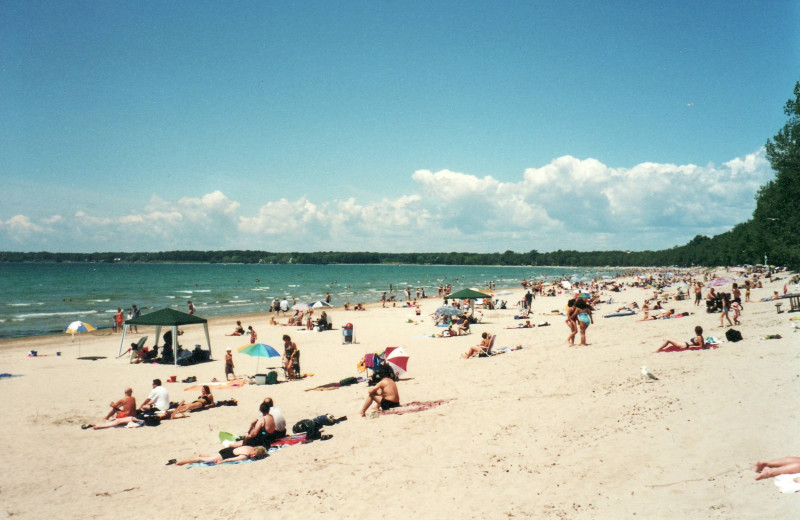 Beach at Great Blue Resorts.