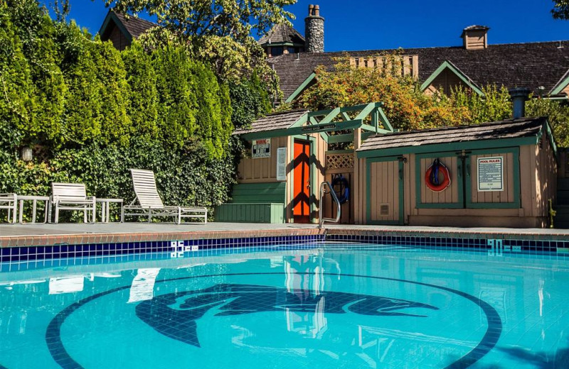 Outdoor pool at Painter's Lodge.