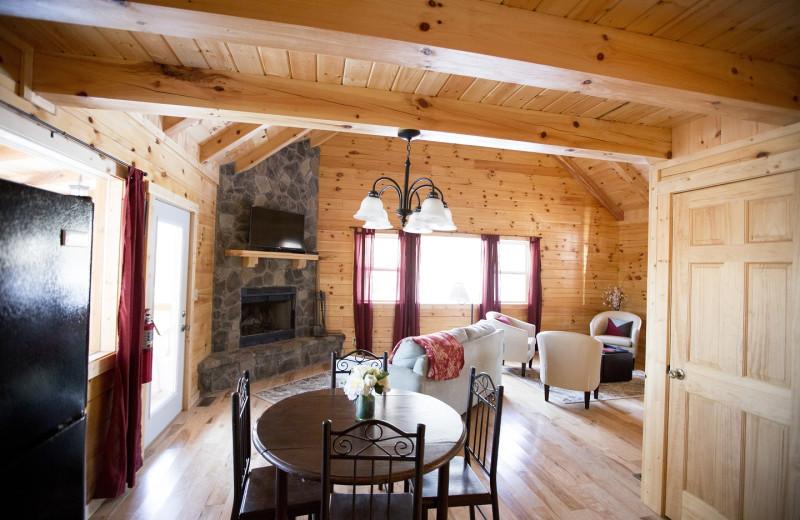 Cabin interior at Aspen Ridge.