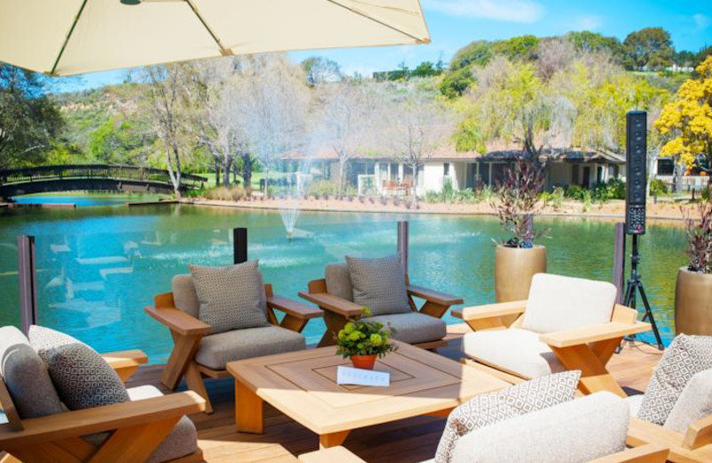 Relaxing at Quail Lodge Resort.