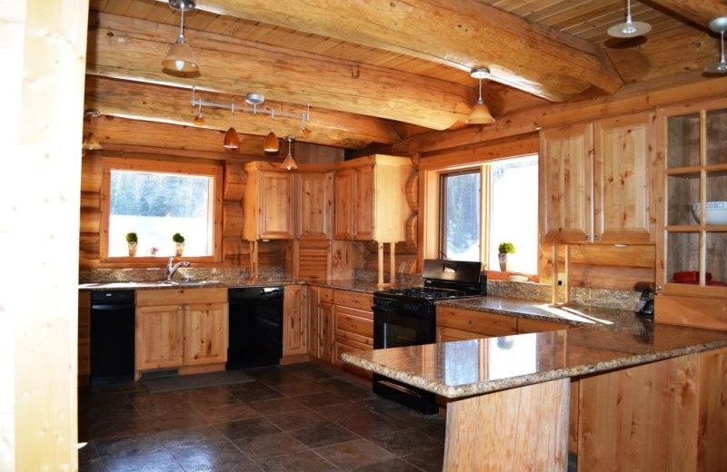 Kitchen area at Brian Head Vacation Rentals.
