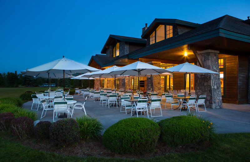 Patio at Grand Traverse Resort and Spa.