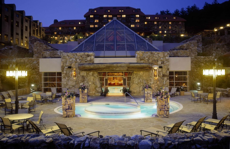 Spa pool at The Grove Park Inn Resort & Spa.