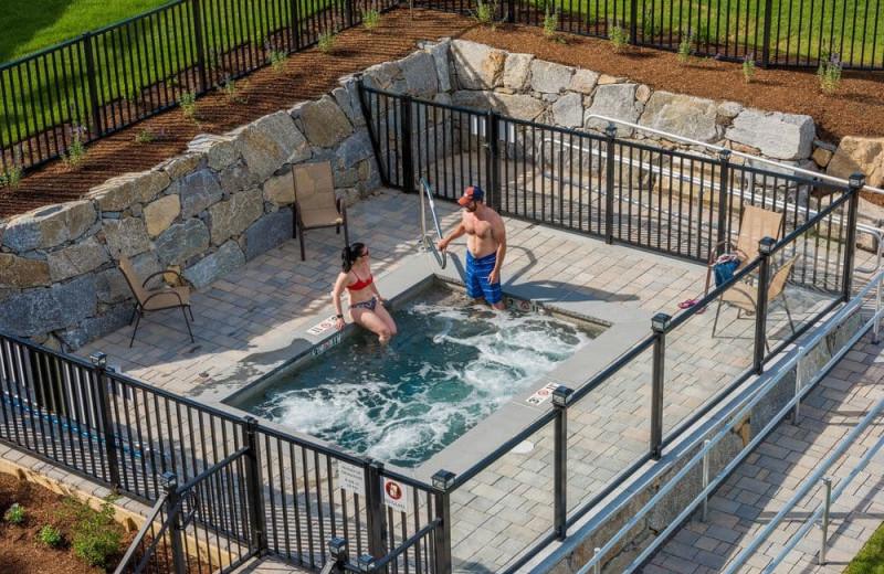 Hot tub at Center Harbor Inn.
