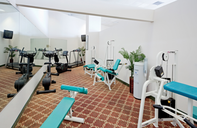 Fitness room at Grand Hotel & Spa.
