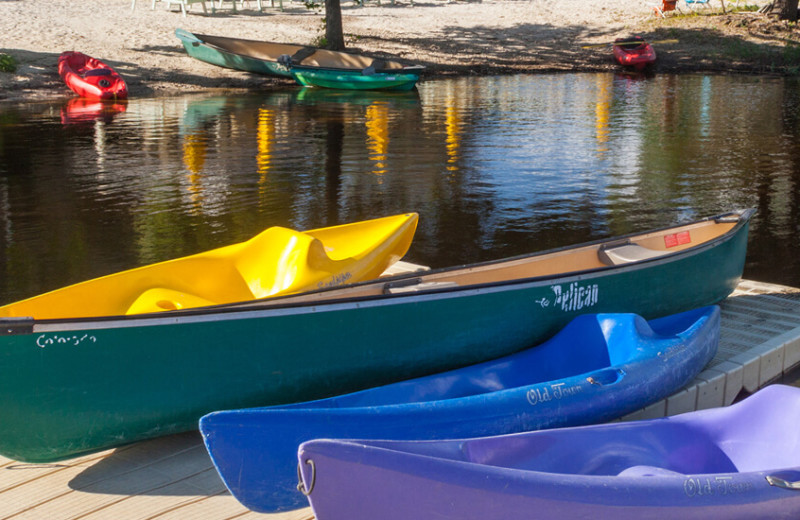 Canoes at The Retreat at Balcones Springs.