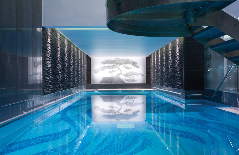Indoor pool at The Langham, London.