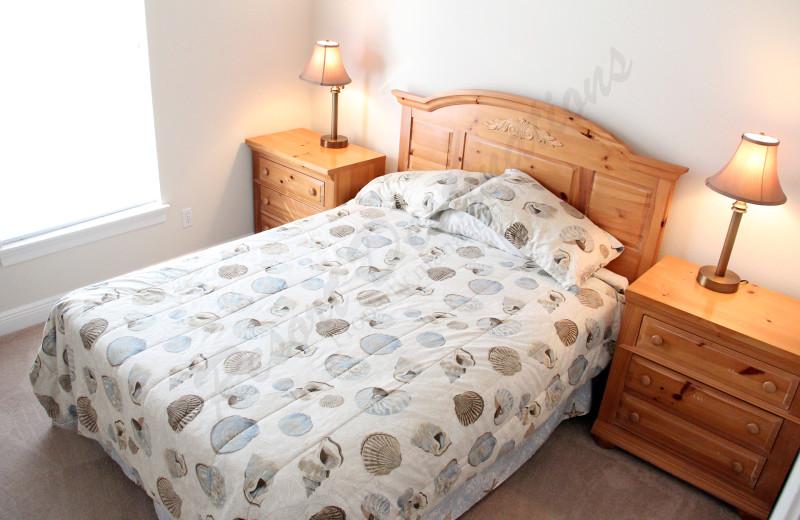 Rental bedroom at Resort Destinations.
