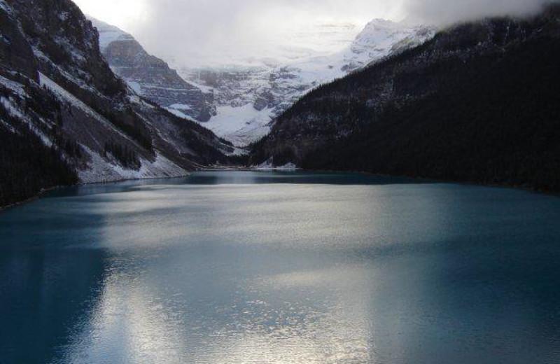 Lake view at Bear Hill Lodge.