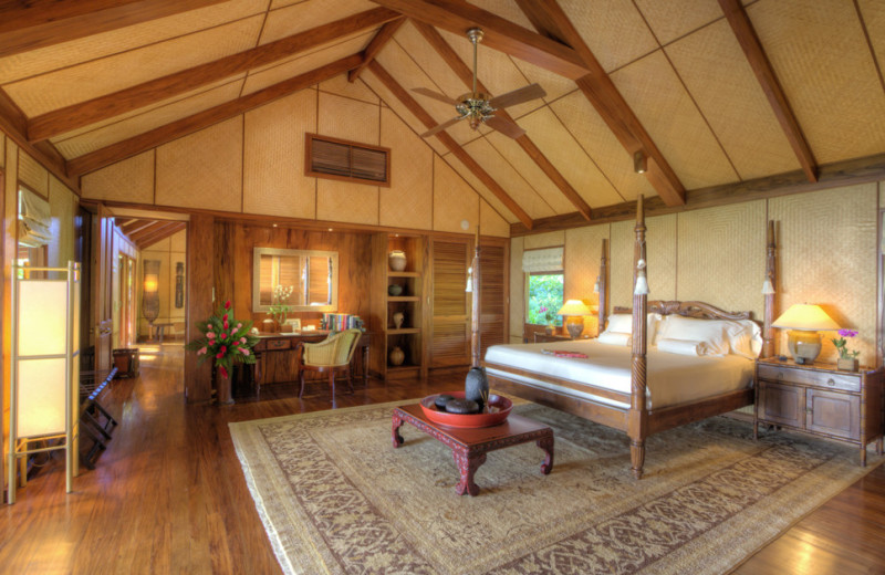 Guest room at Wakaya Club.