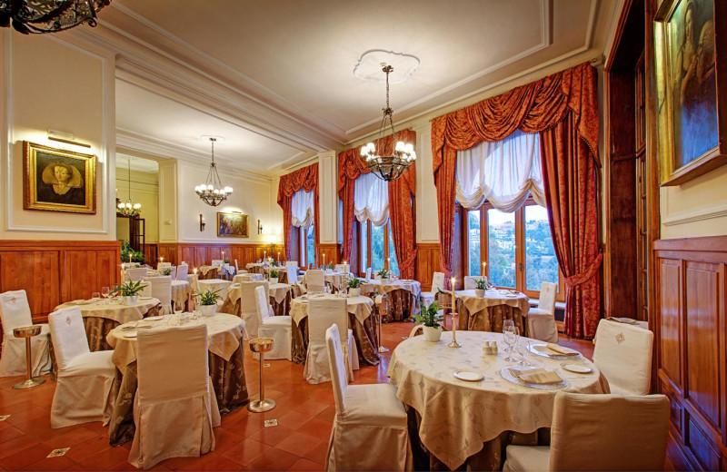 Dining at San Domenico Palace.