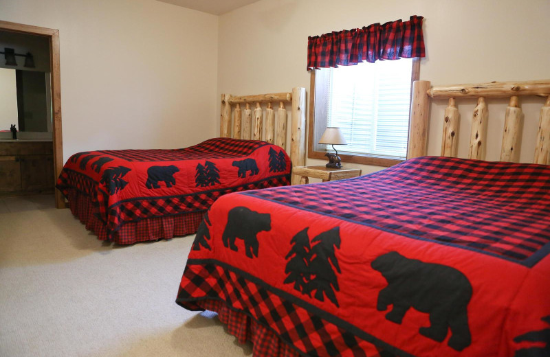Guest bedroom at East Silent Lake Resort.