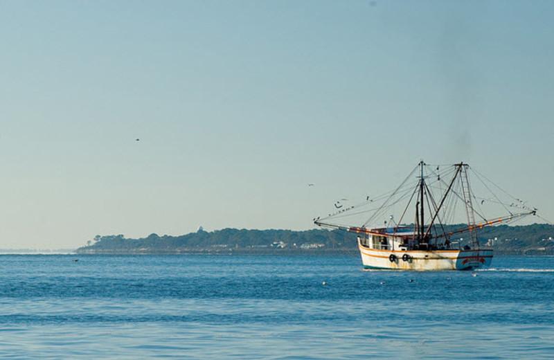 Boat at Sea Palms Resort.