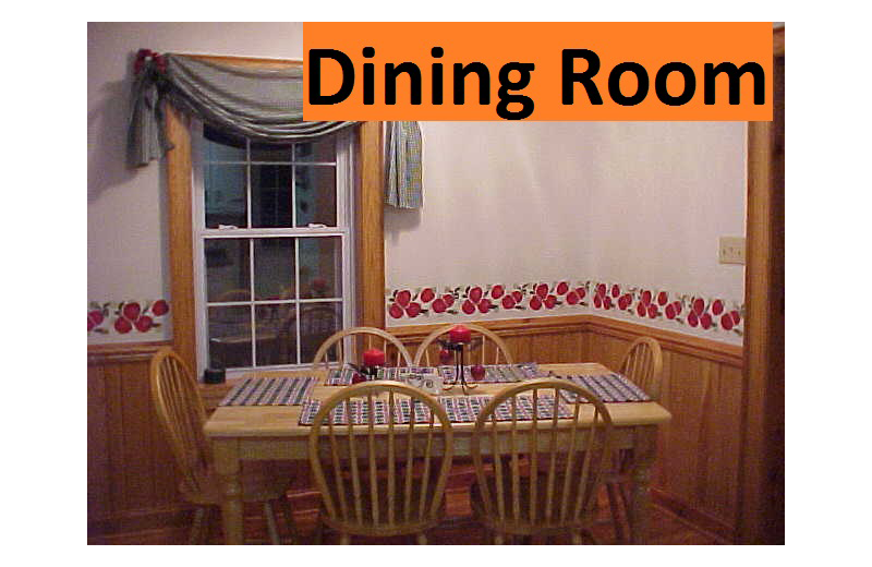 Dining room at The River House.