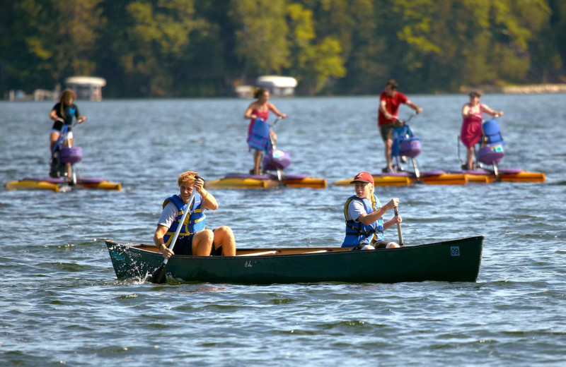 Canoeing at Cragun's Resort and Hotel on Gull Lake.