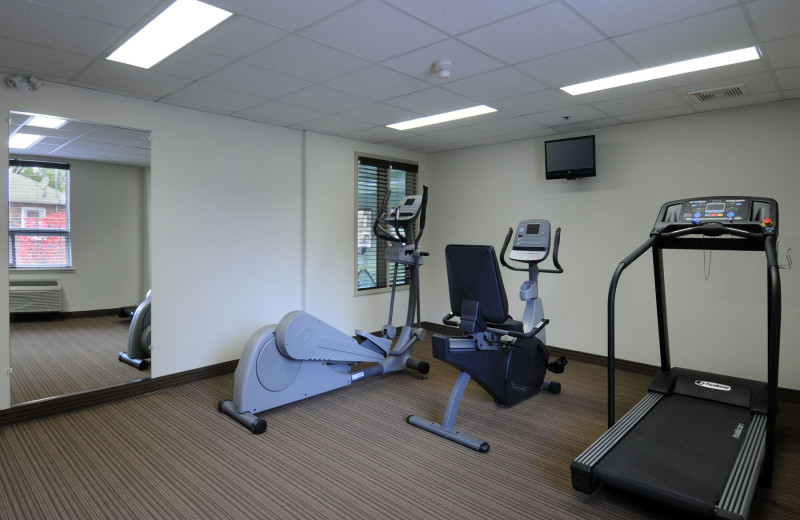 Fitness room at Super 8 Peterborough Hotel.