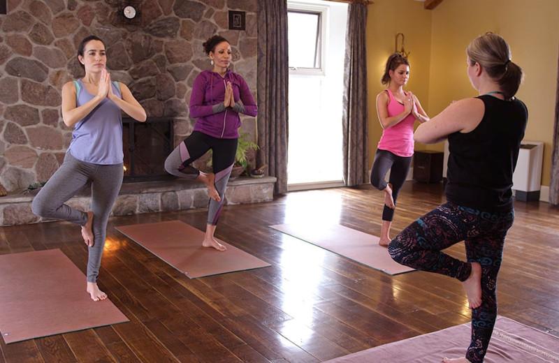 Yoga at Ste. Anne's Spa.